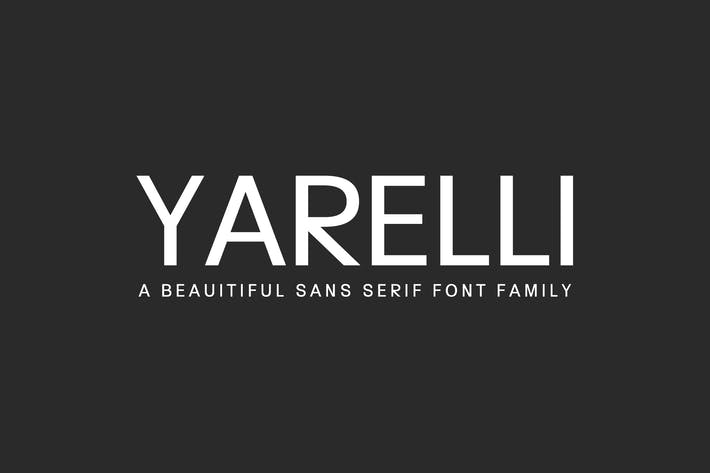Cover Image For Yarelli Sans Serif Font Family