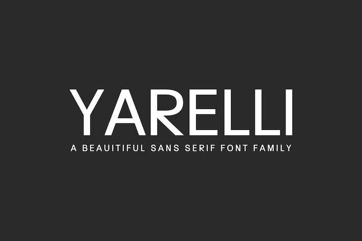 Thumbnail for Yarelli Sans Serif Font Family