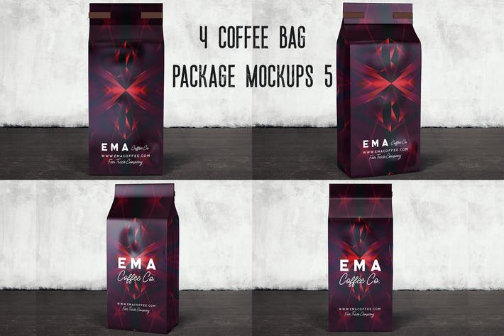 Thumbnail for 4 Coffee Bag Package Mockups 5