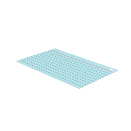 Index Card With Hole Blue