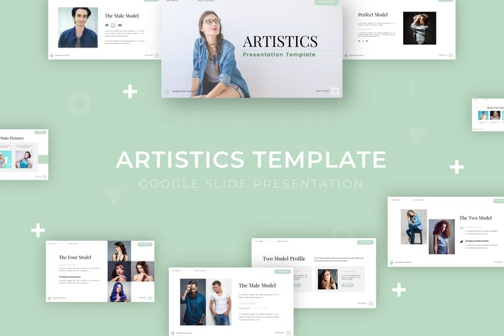 Thumbnail for Artistics - Google Slide Template