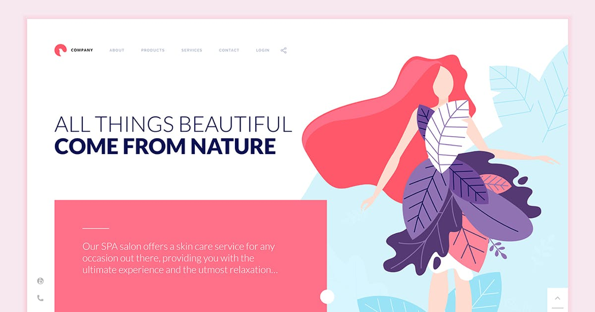 Download Beauty Web Page Design Template by PureSolution