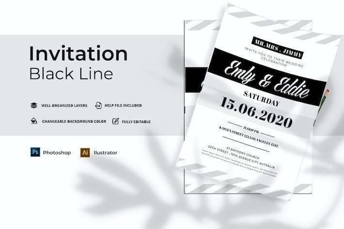 Thumbnail for Ligne Noire Mariage | Invitation