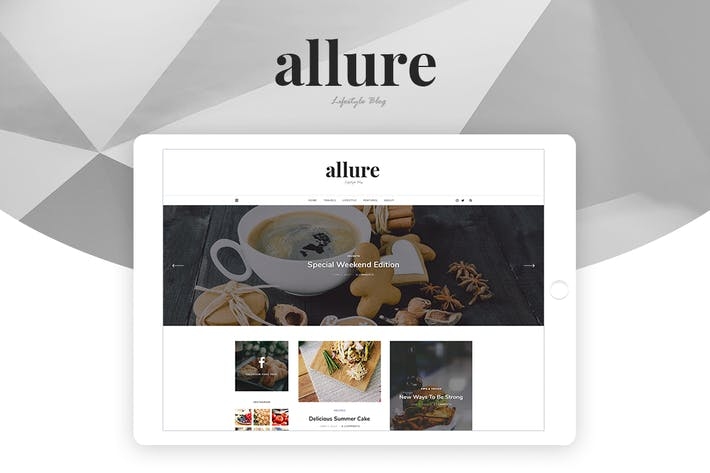 Thumbnail for Allure - Personal Blog Template