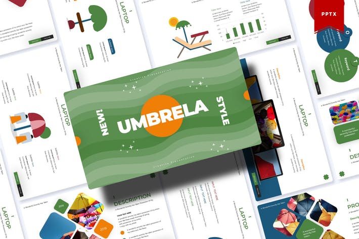 Thumbnail for Umbrella | Powerpoint Template