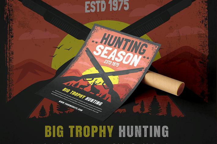 Retro Hunting Season Poster