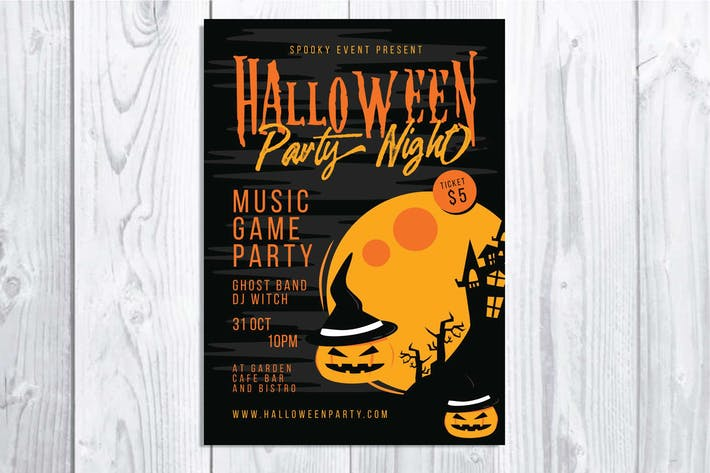 Thumbnail for Halloween Party Night Flyer