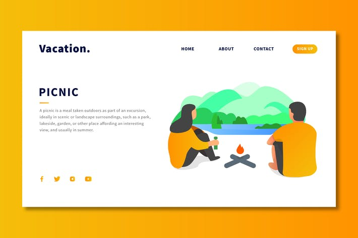 Cover Image For Picnic - Landing Page Template