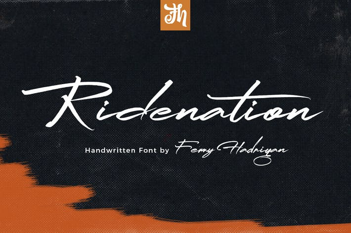 Thumbnail for Ridenation - Handwritten Font
