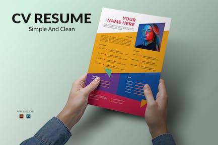 CV Resume Creative And Clean
