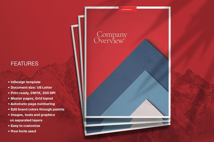 Thumbnail for Red Business Brochure Layout