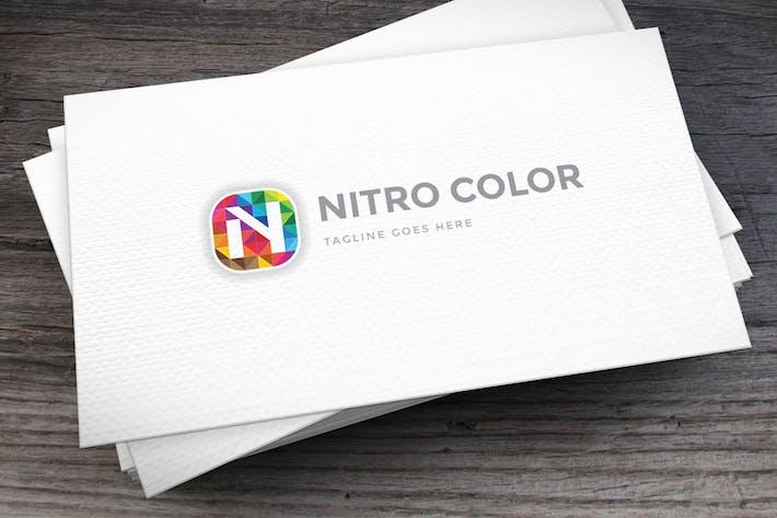 Thumbnail for Nitro Color Letter N Logo Template