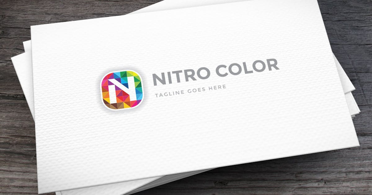 Download Nitro Color Letter N Logo Template by empativo