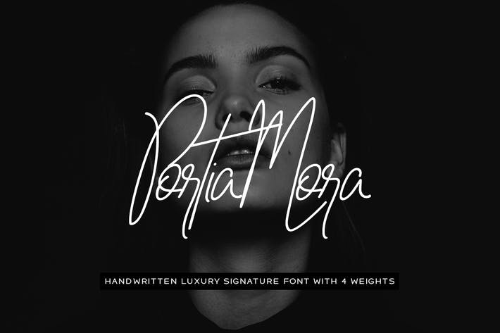 Cover Image For Portia-Mora Handwritten Luxury / Signature Font