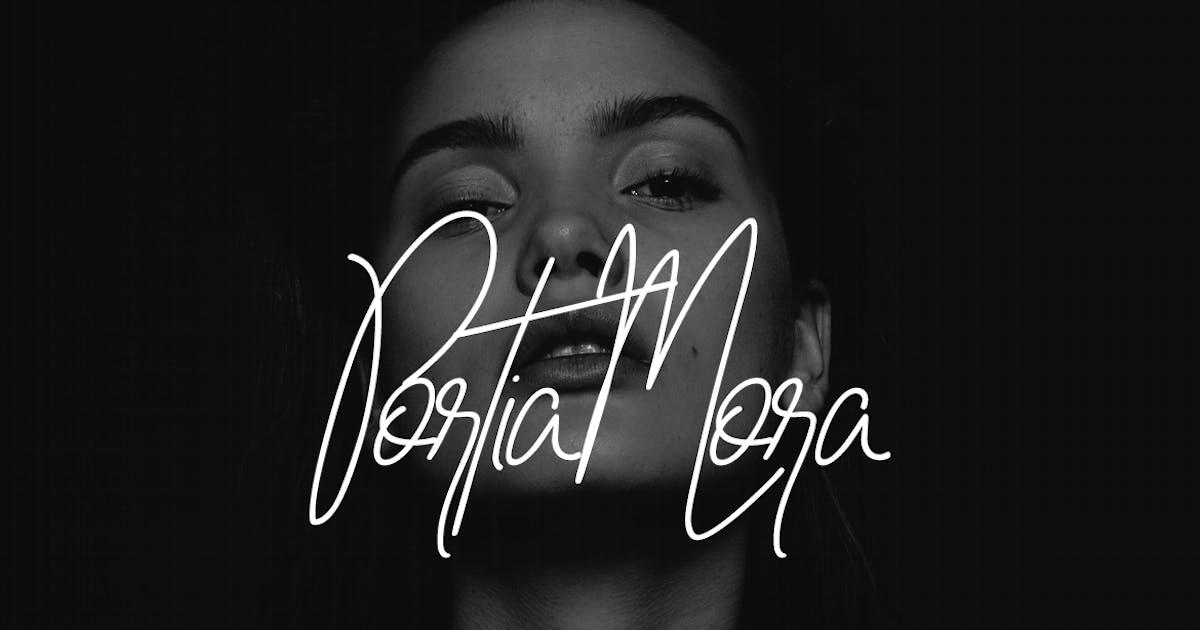 Portia-Mora Handwritten Luxury / Signature Font by designova