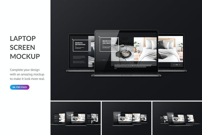 Thumbnail for Dark Laptop Mockup