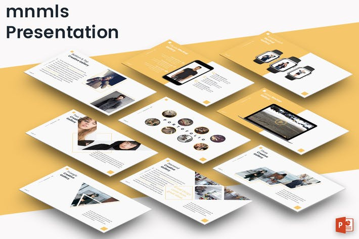 Thumbnail for mnmls  - Powerpoint Presentation Template