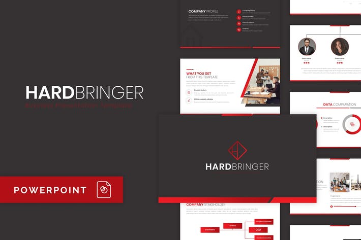 Thumbnail for Hardbringer - Business PowerPoint Template