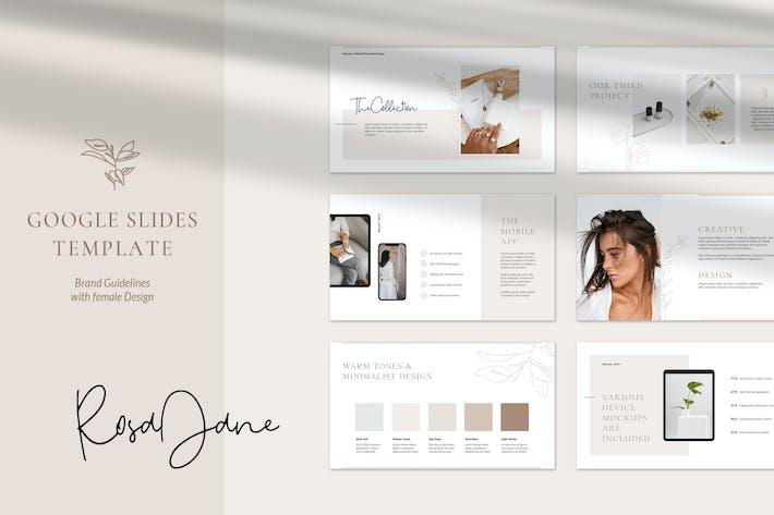 Thumbnail for Directrices de marca de RosaJane Google Slides