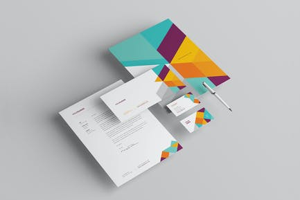 Modern Colorful Stationery
