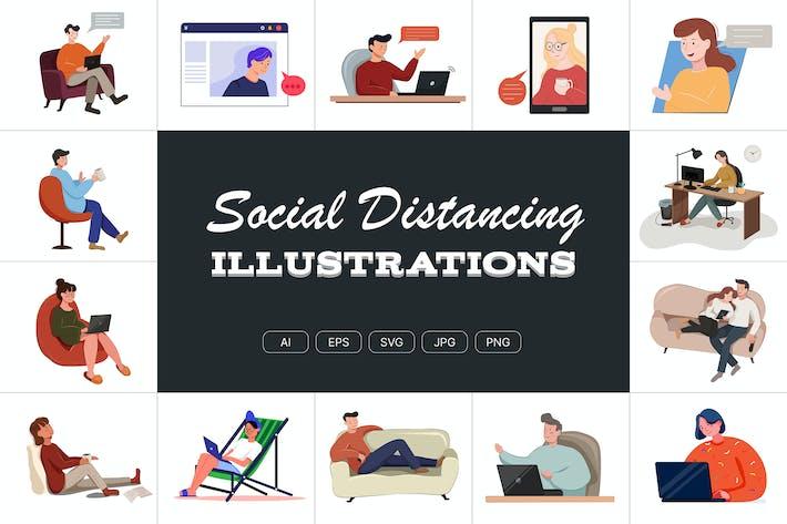 Thumbnail for Социальные далекие иллюстрации