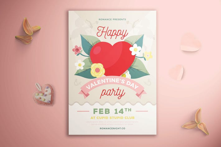 Thumbnail for Happy Valentine's Day Party Flyer