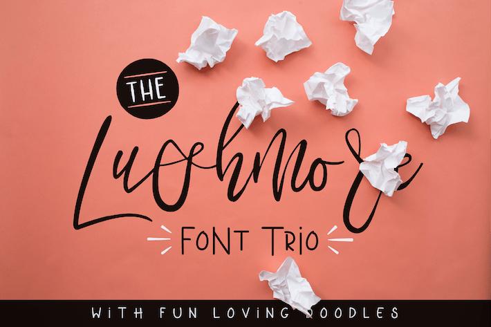 Thumbnail for Lushmore Font Trio