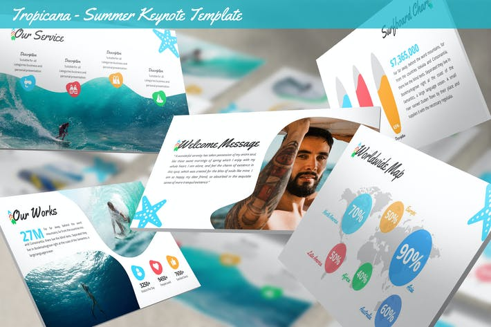 Thumbnail for Tropicana - Summer Keynote Template