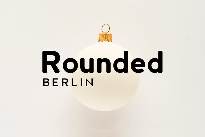 Thumbnail for BERLIN Rounded - Sans Serif / Display Typeface