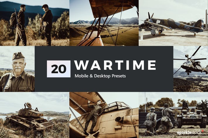 Thumbnail for 20 Wartime Lightroom Presets and LUTs