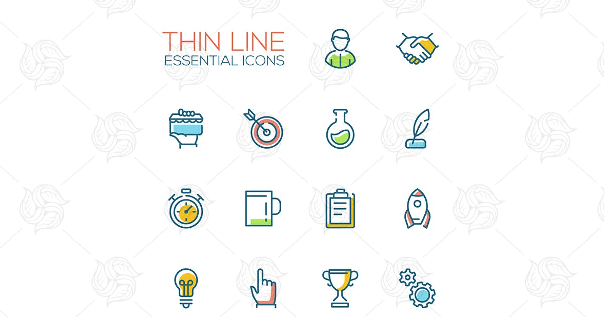 Download Business, Finance Symbols - thin line icons by BoykoPictures