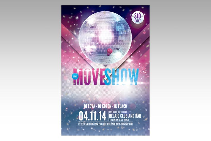 Thumbnail for Move Show Flyer Poster