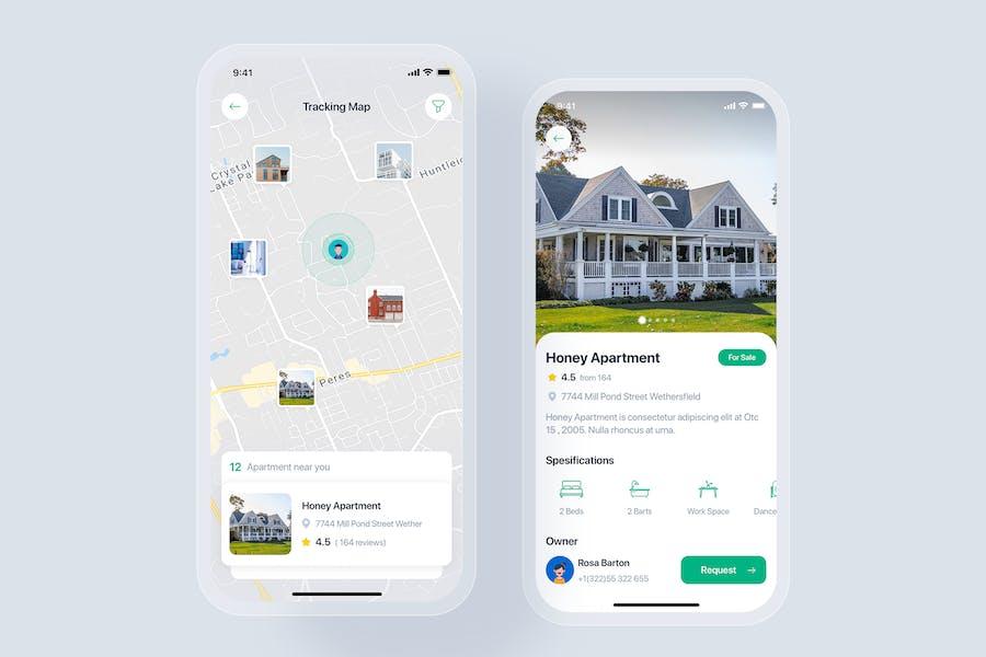 Real Estate mobile app concept