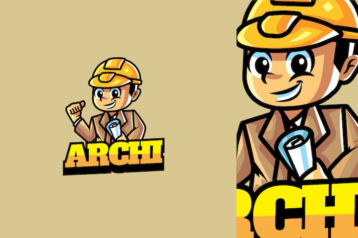 Thumbnail for Architect - Mascot Logo