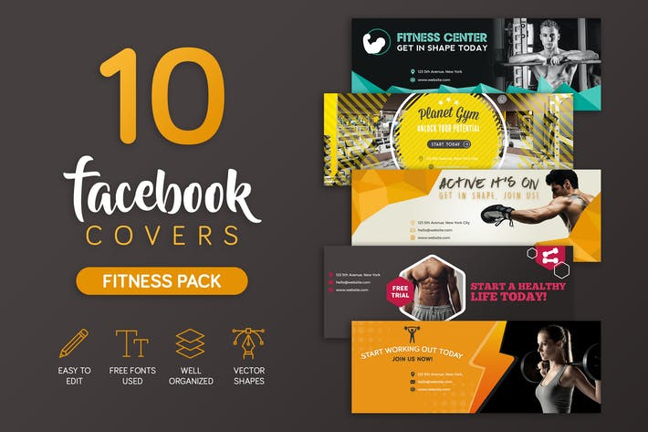 Thumbnail for Fitness Facebook Cover