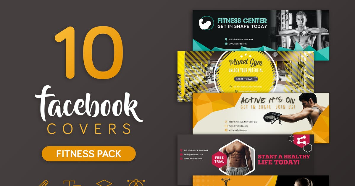 Download Fitness Facebook Cover by brandifystudio