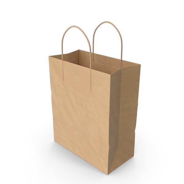 Бумажная сумка с бумажной ручкой