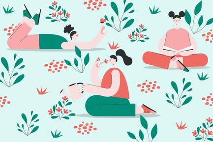 Pastel Spring Illustration
