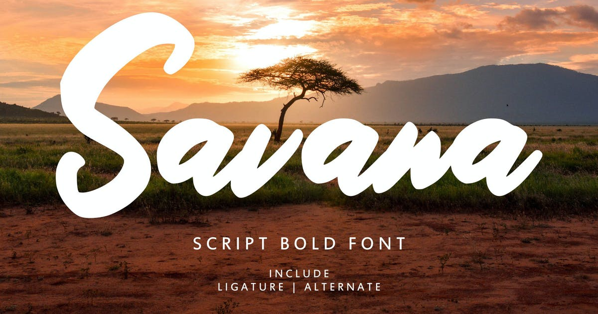 Download Savana - Script Bold Font by IanMikraz