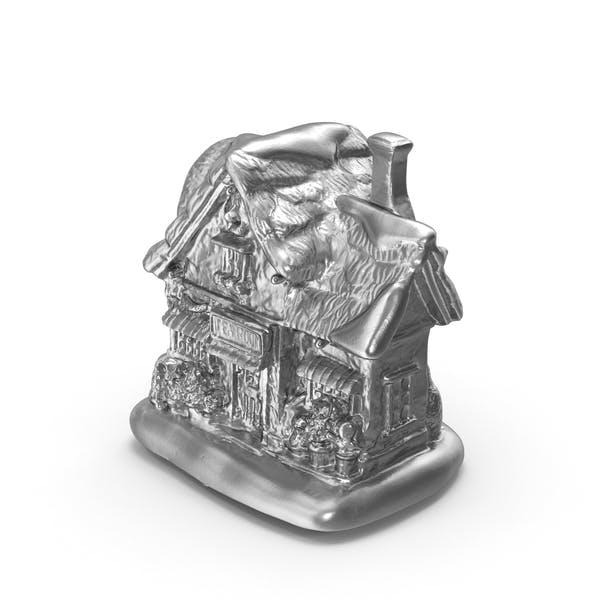 Thumbnail for Silver Christmas Tea House Decoration