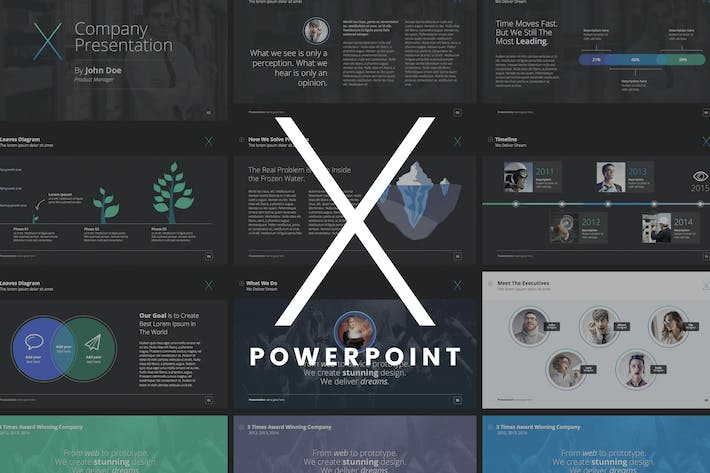 the x note powerpoint template by slidehack on envato elements