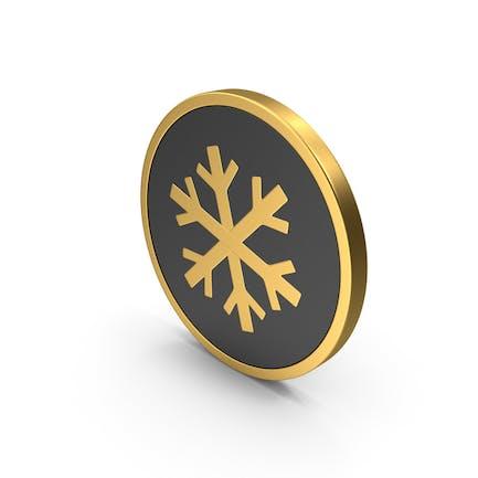 Золотая икона Снежинка