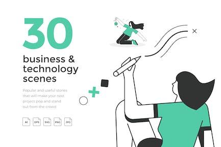 30 beliebte Geschäfts- und Technikszenen