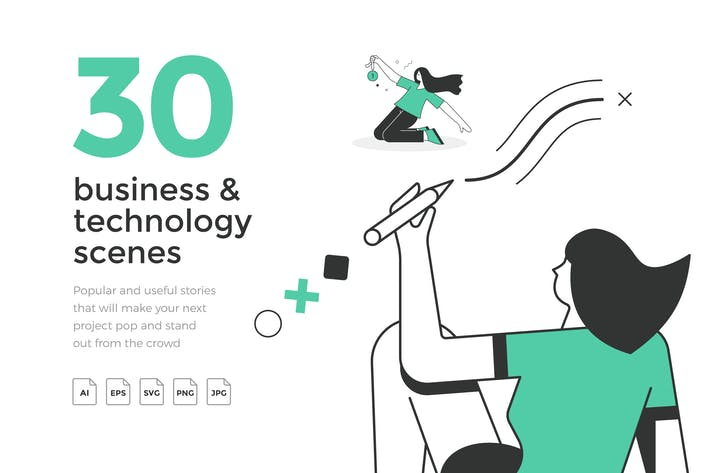 Thumbnail for 30 Popular Business & Technology Scenes