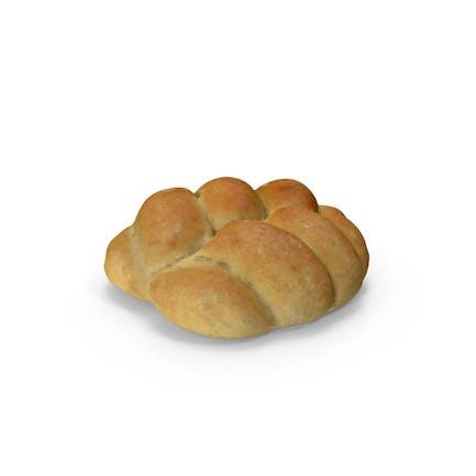 Rollo de pan trenzado