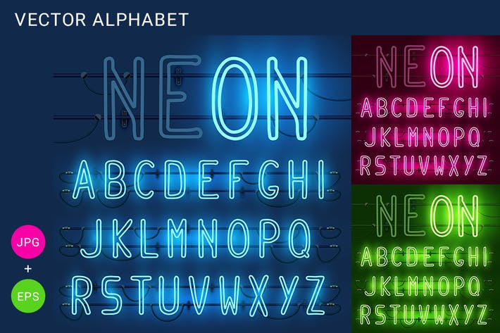 Thumbnail for Neon alphabet