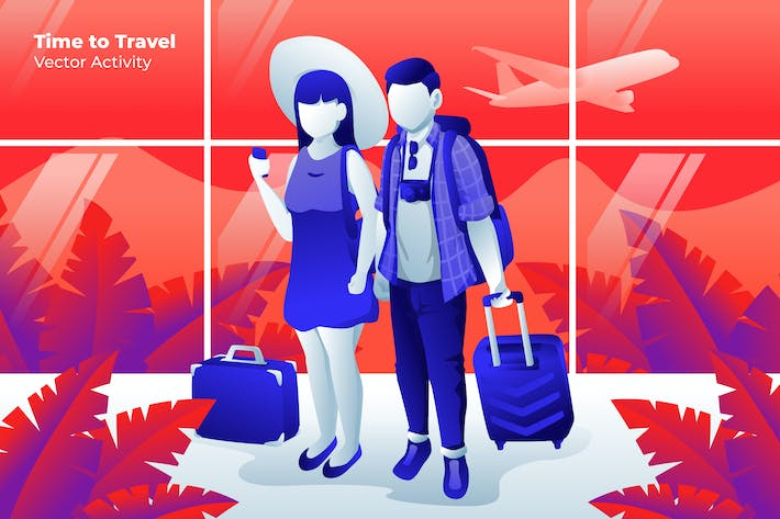 Thumbnail for Time to Travel - Vector Illustration