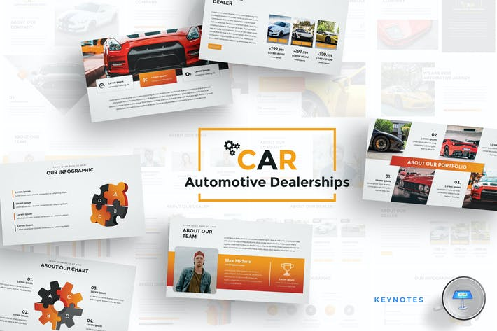 Thumbnail for Car Dealerships Keynote Template