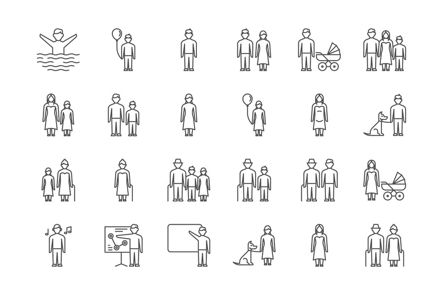 35 People Icons