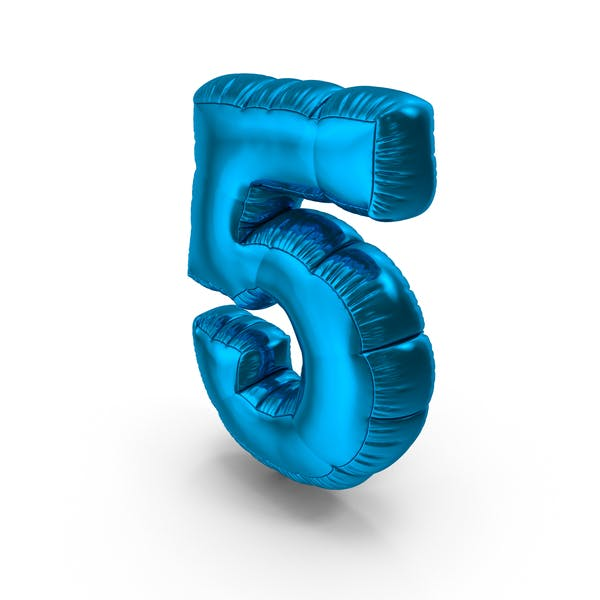 Thumbnail for Foil Balloon Number 5 Blue